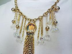 Art: Girl Watch Necklace by Artist Vicky Helms