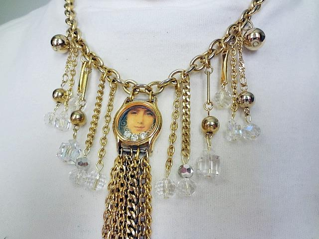 Art: Girl Watch Necklace (GIFTED) by Artist Vicky Helms