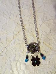 Art: Turquoise Watch Necklace by Artist Vicky Helms