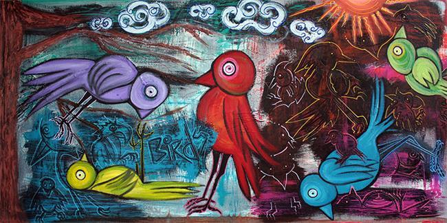 Art: Birds by Artist Laura Barbosa