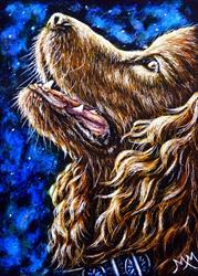 Art: Dog - SA93  (SOLD) by Artist Monique Morin Matson