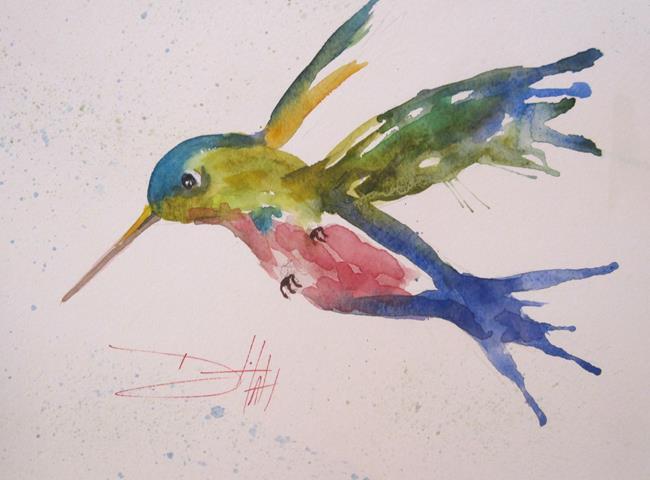 Art: Wild Hummingbird by Artist Delilah Smith