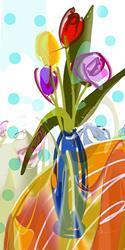 Art: Tulip Jubilee by Artist Alma Lee