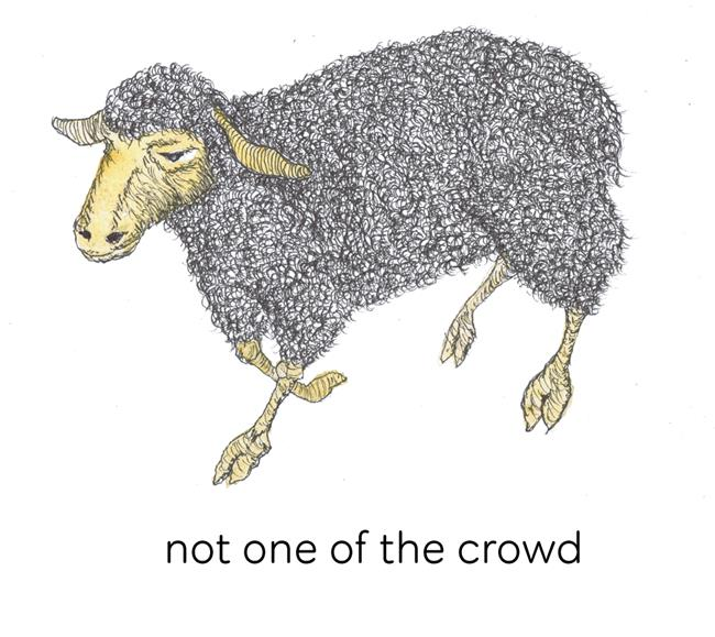 Art: NOT ONE OF THE CROWD by Artist Dawn Barker