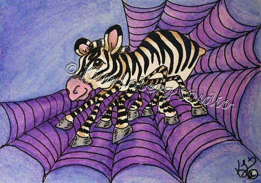 Art: Spider Zebra by Artist Kim Loberg
