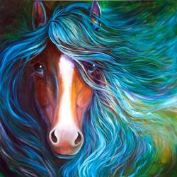 Art: BLUE MOONDUST EQUINE by Artist Marcia Baldwin