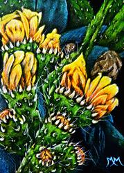 Art: Prickly Pear Fruit - SA97 by Artist Monique Morin Matson