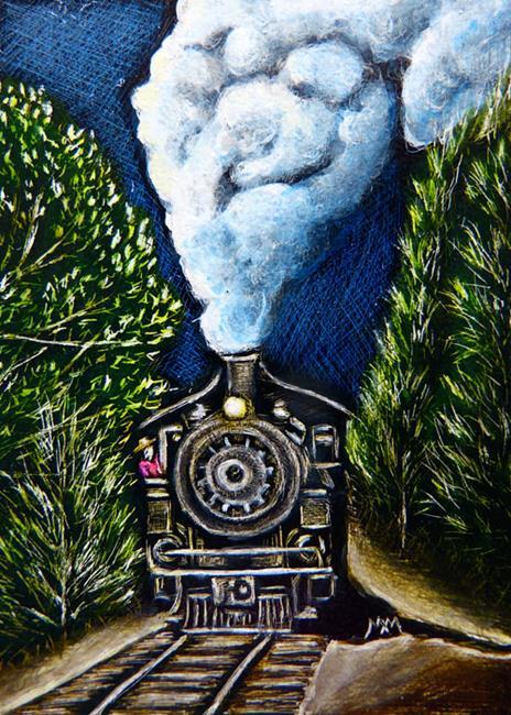 Art: SA98 - Steam Engine  (SOLD) by Artist Monique Morin Matson