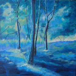 Art: Four Trees by Artist Julie Hollis