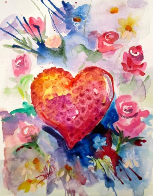 Art: Heart Felt-sold by Artist Delilah Smith
