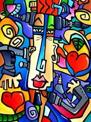 Art: Original Abstract Pop Art Frank by Artist Thomas C. Fedro