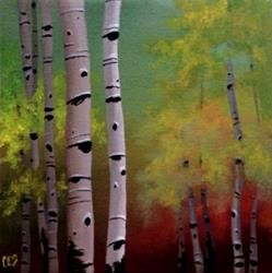 Art: Red Dawn Birch by Artist Christine E. S. Code ~CES~