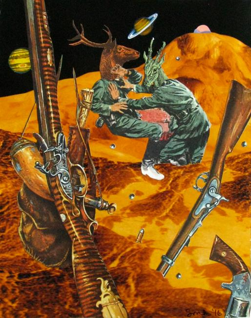 Art: Guns In Space by Artist Shawn Marie Hardy