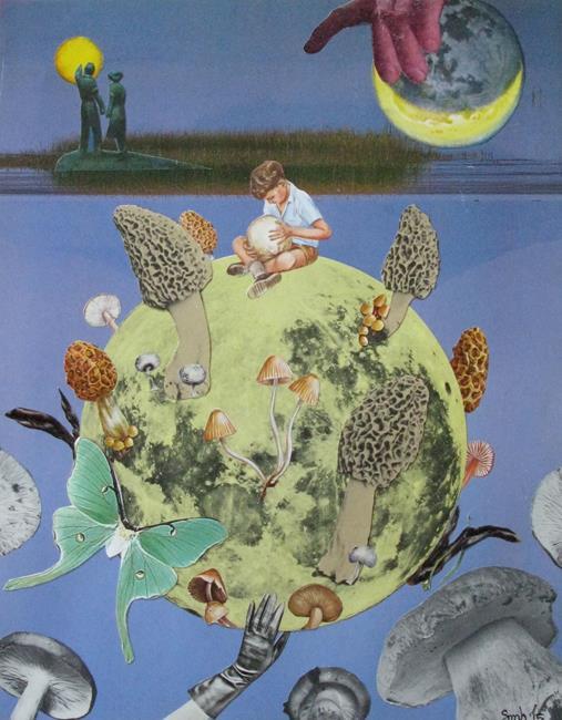 Art: Return Of The Giant Mushroom Moon by Artist Shawn Marie Hardy