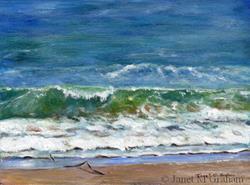Art: Margate Beach by Artist Janet M Graham