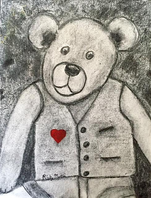 Art: Teddy Bear by Artist Ulrike 'Ricky' Martin