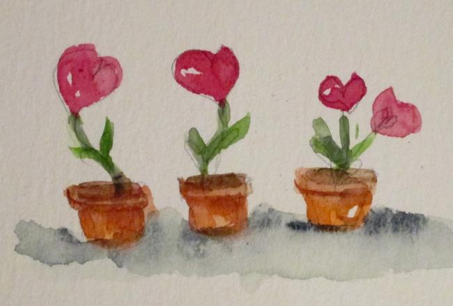 Art: Valentine Flowers by Artist Delilah Smith