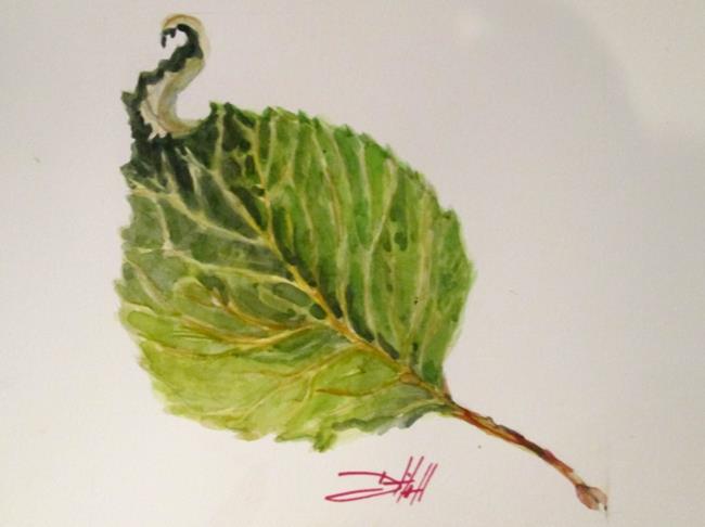 Art: Apple Leaf by Artist Delilah Smith