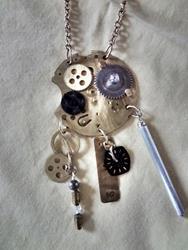 Art: Steampunk 1 Necklace by Artist Vicky Helms