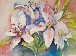 Art: Star Gazer Lililies by Artist Delilah Smith