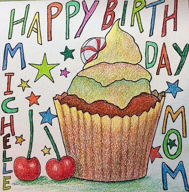 Art: Birthday Greeting - made to order by Artist Ulrike 'Ricky' Martin