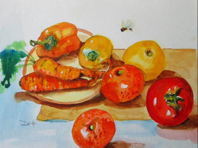 Art: A Study in Orange by Artist Delilah Smith
