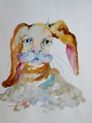 Art: Whimsical Rabbit by Artist Delilah Smith