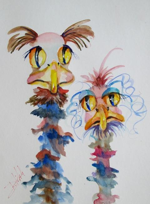 Art: A Very Odd Couple by Artist Delilah Smith
