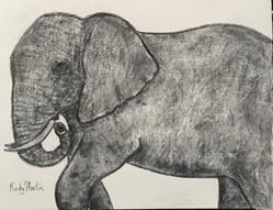 Art: Elephant by Artist Ulrike 'Ricky' Martin