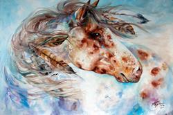Art: THUNDER APPALOOSA INDIAN WAR HORSE by Artist Marcia Baldwin