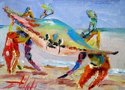 Art: Blue Crab No, 3 by Artist Delilah Smith