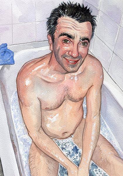 Art: Bathtime by Artist Mark Satchwill