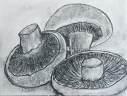 Art: Mushrooms by Artist Ulrike 'Ricky' Martin