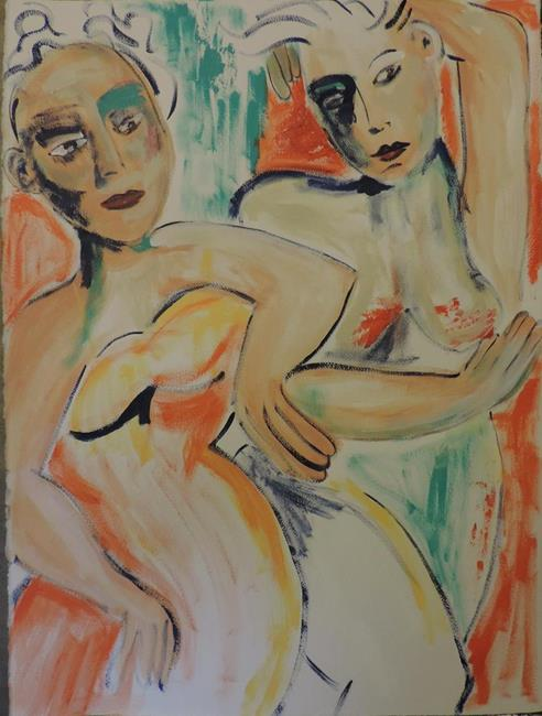 Art: girlfriends 56 by Artist Nancy Denommee
