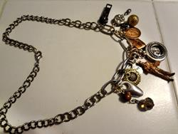 Art: Copper Man Necklace by Artist Vicky Helms