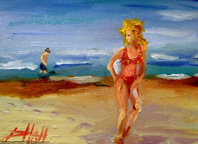 Art: Beach People No . 3 by Artist Delilah Smith
