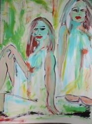 Art: girlfriends 57 by Artist Nancy Denommee
