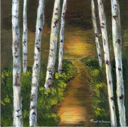 Art: Sunlit Forest by Artist Janet M Graham