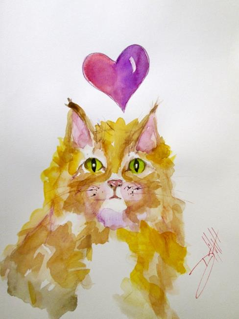 Art: Kitty Love by Artist Delilah Smith