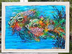 Art: Reef Fish II SOLD by Artist Ke Robinson