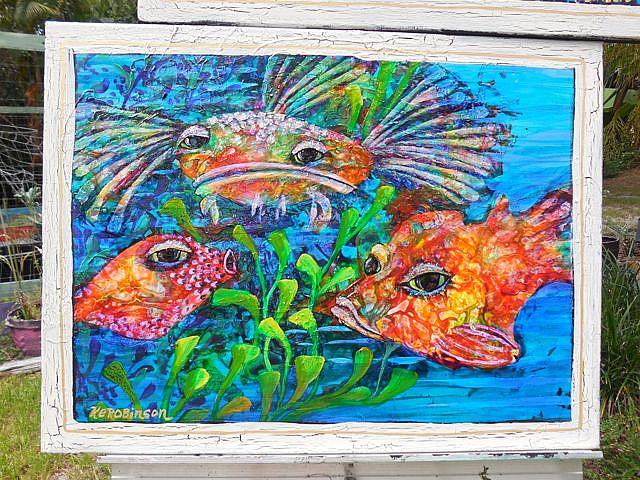 Art: Reef Fish III  SOLD by Artist Ke Robinson