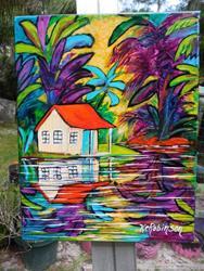 Art: Tropical Hideaway  SOLD by Artist Ke Robinson