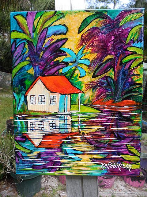 Art: Tropical Hideaway  SOLD by Artist Ke Robinson