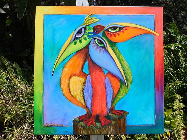 Art: Sanibel Pelicans -SOLD by Artist Ke Robinson