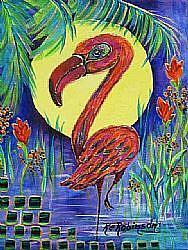 Art: SD Flamboyant Flamingo -SOLD by Artist Ke Robinson