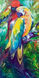 Art: MACAW PAIR 2412 by Artist Marcia Baldwin