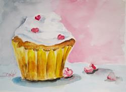 Art: True Love Cupcake by Artist Delilah Smith
