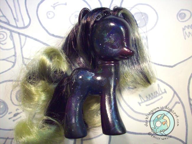Art: Galaxy Pony MLP Repaint by Artist Emily J White