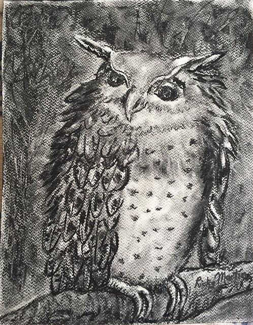Art: Owl by Artist Ulrike 'Ricky' Martin
