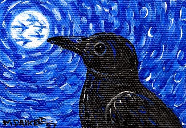Art: Moon Crows by Artist Melinda Dalke